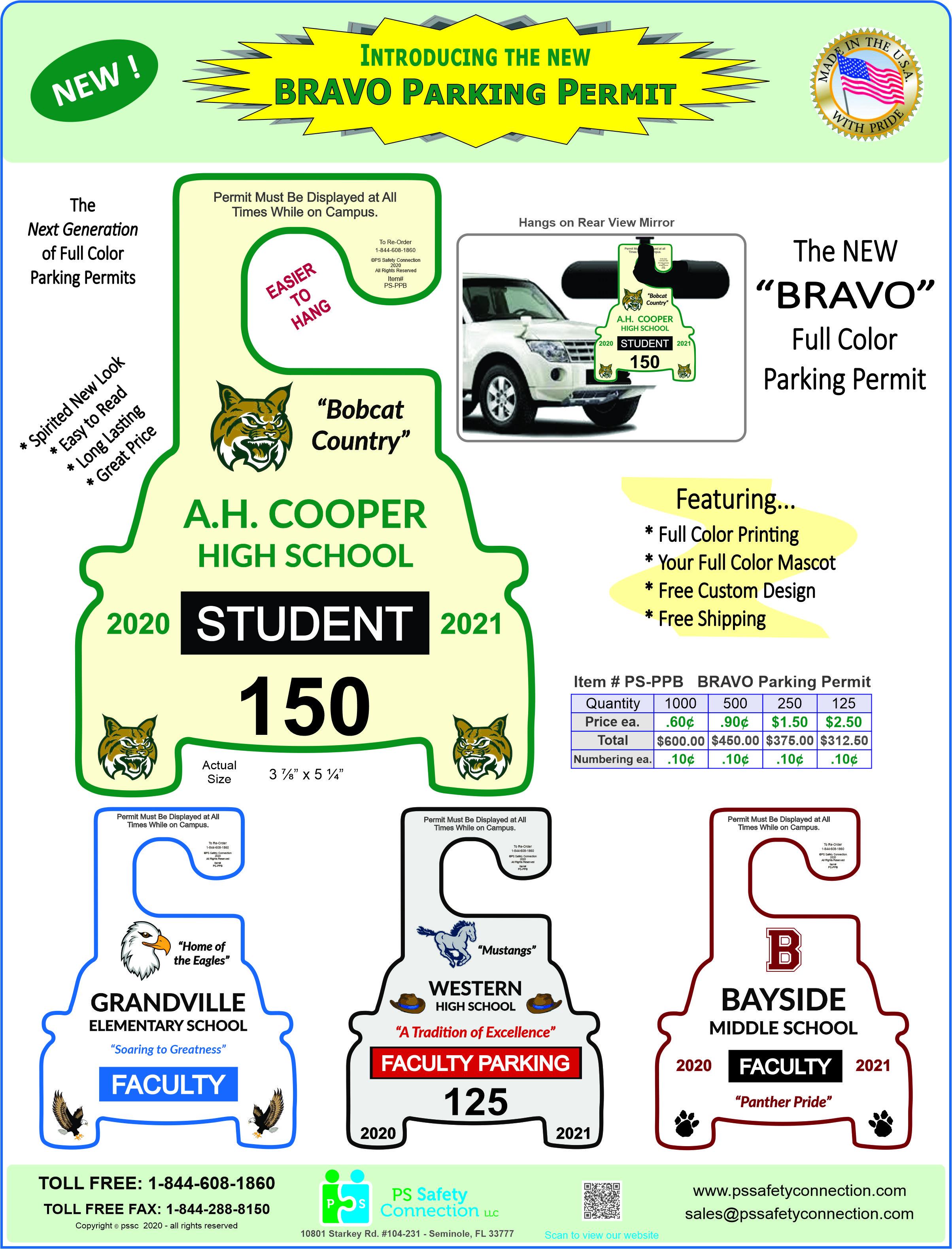 BRAVO Parking Permit