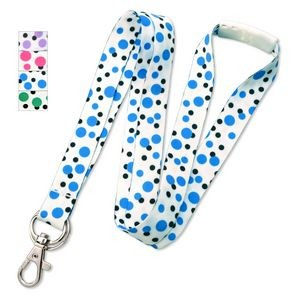 "5/8"" Polka Dot Lanyards with Trigger Hook and Split Ring"