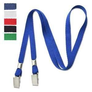 "3/8"" Open-Ended Lanyard with 2 Bulldog Clips"