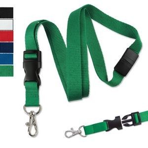 "5/8"" Blank Detachable Breakaway Ribbed Polyester Lanyards"